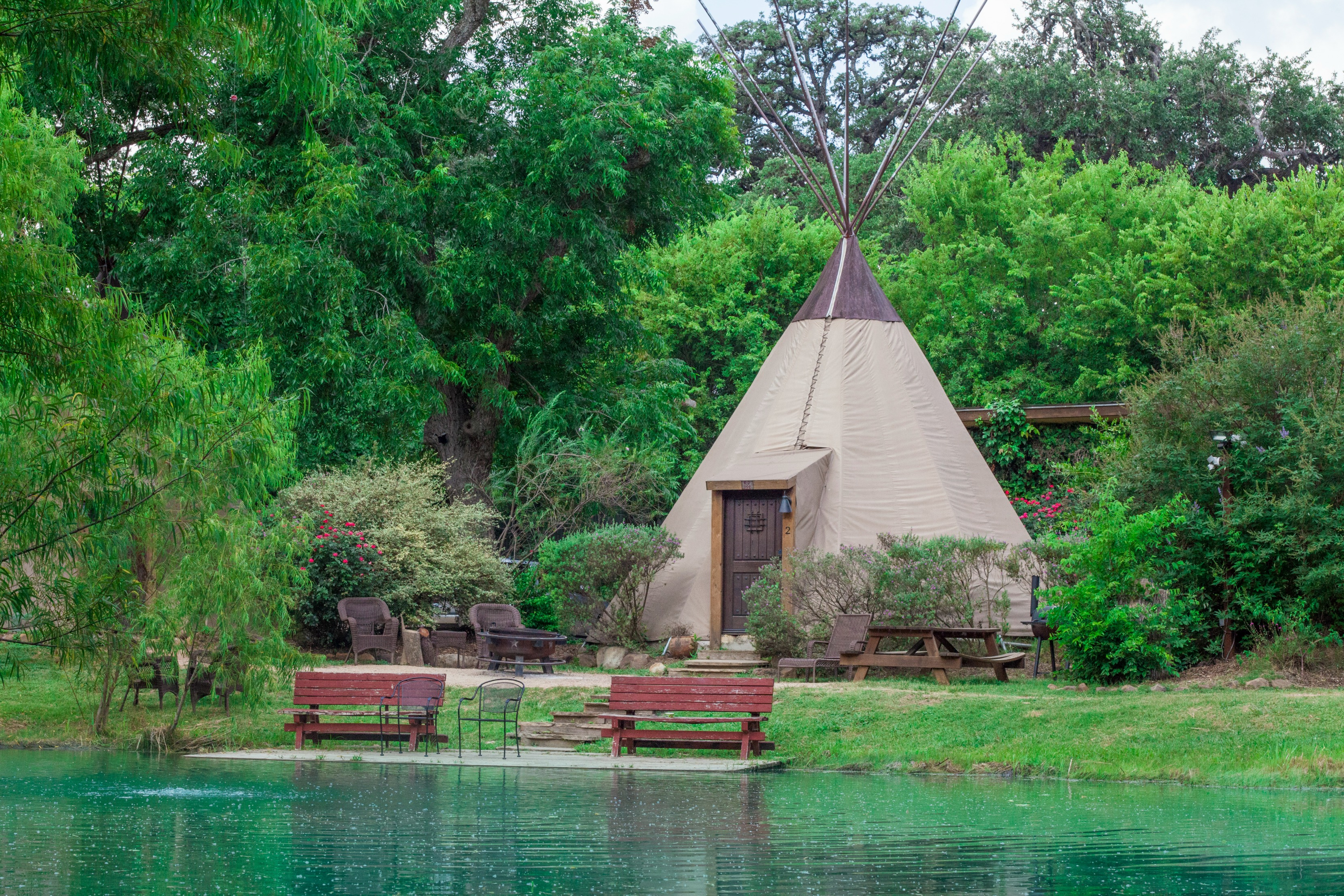 Geronimo Creek Retreat Teepees - Featuring: 20 New Braunfels Vacation Rentals