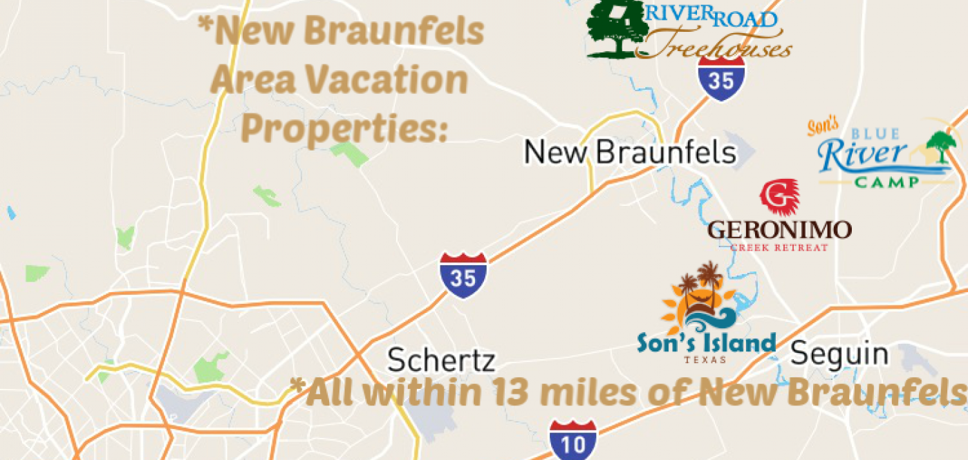 Best Texas Travel's New Braunfels area Vacation Properties